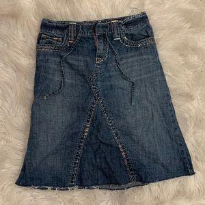 Girls Gap Long Jean Skirt